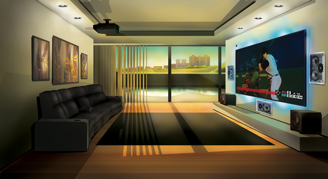 Aaron Kober Illustration And Design Blog Archive Home Theater Design Two